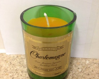 Small Upcycled Bottle Candle