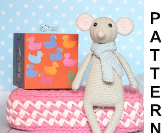 PATTERN Crochet mouse, amigurumi mouse pattern, mouse pattern, PDF crochet pattern, crochet animal pattern, mouse toy tutorial, mister mouse