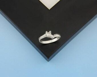 Giraffe Ring In Sterling Silver