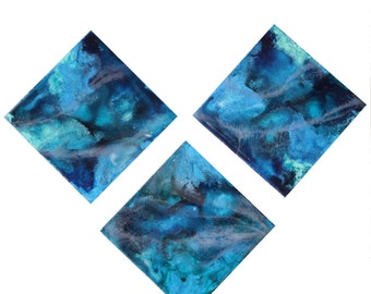 """Resin and Acrylic Reef Painting 