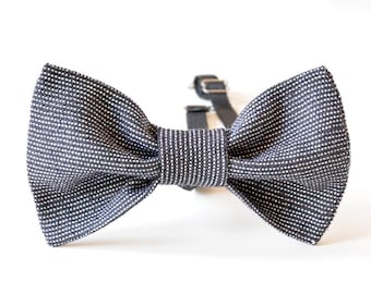 SALE! Men bow tie / linen bow tie / wedding accessories / gift for him / Valentine's day / Easter / Father's day
