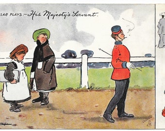 Artist-Signed His Majesty's Servant Postcard, c. 1910