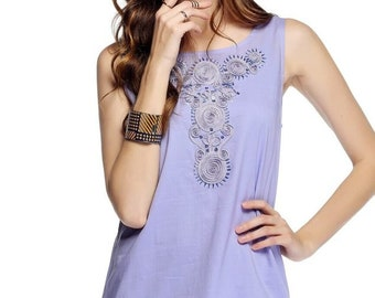 Soutache Embroidered & Beaded Shift Dress