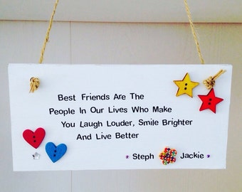 Personalised best friend quote cards handmade best friend personalised best friends quote handmade plaque best friend quote signs personalised best friend gifts bookmarktalkfo Choice Image