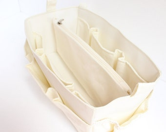Bag organizer - Purse organizer insert in Cream fabric