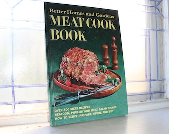 Meat Cook Book Better Homes & Gardens Vintage 1969 Cookbook