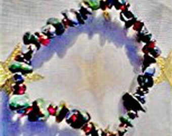 ANEMIA~GeMsToNe~S-T-R-E-T-C-H POWER of 3 Bracelet
