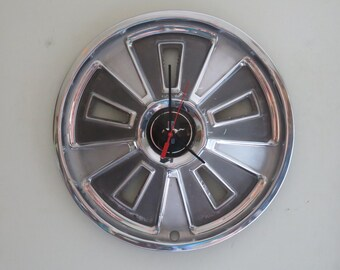 1966 Ford Mustang Hubcap Clock - Item 2615