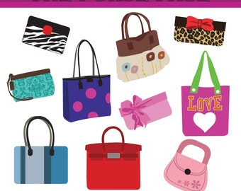 Clipart The Purse page Digital Clip Art Set - Personal and Commercial Use Clip Art. Purse, Handbags, cute handbags. Pretty purses