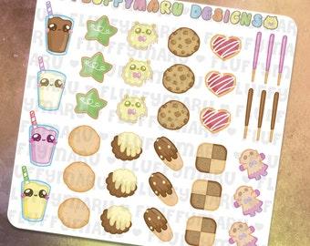 Cookie Deco Sticker Set    Planner Stickers, Cute Stickers for Erin Condren (ECLP), Filofax, Kikki K, Etc.    DS06