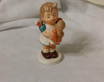vintage, KELVIN'S FIGURINE, Kelvin, sweet little miniature, girl and doll, collectibles, figurine, statue, knick knacks