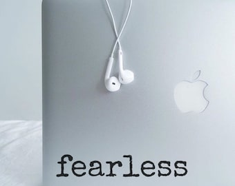 Fearless (1)                , Laptop Stickers, Laptop Decal, Macbook Decal, Car Decal, Vinyl Decal