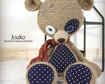Jouko - Original Handmade Teddy/Bear/Toy/Collectable/Gift/Charm
