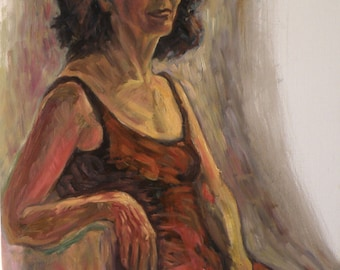 Portrait of lily- an original oil on canvas painting
