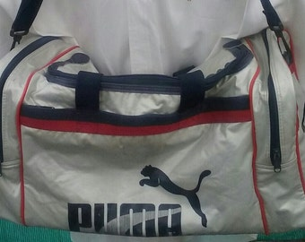 Duffle sport bag Puma shoulder straps 1990s