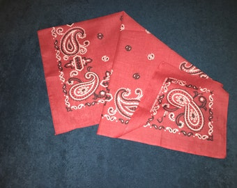 Vintage 1980's Faded Soft Red Bandana