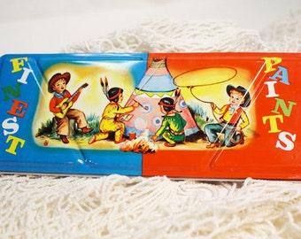 Paint Box, Vintage Cowboy and Indian Paint Box