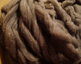 Merino Wool Alpaca Roving Fiber Soft Brown Wool Alpaca Spinning Fiber 4 ounces