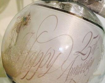 Personalized Anniversary Ornament