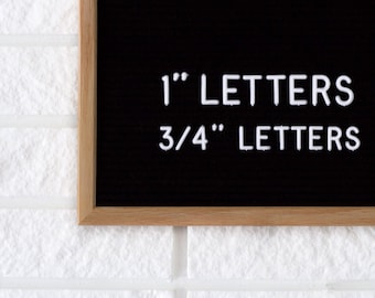 """1"""" Letter Board Letter Set - 1 INCH Letter Set with 290 Characters - White or Black"""