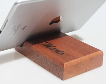 Docking station, Charging station, iPad holder, Personalized gift, Birthday gift, Christmas gift, Gift for him, Gift for her