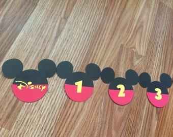 Disney Countdown Banner for your next trip to Disneyland or Disneyworld