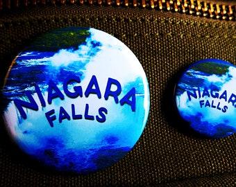 NIAGARA FALLS ~ Waterfall ~ Pin ~ Magnet ~ Button ~ Badge ~ Accessory ~ Pinback ~ Mag ~ Brooch ~ Merch ~ Original Concept/Design