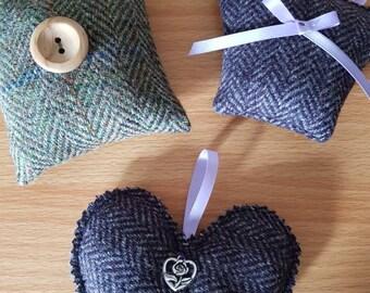 Harris Tweed Lavender Bags