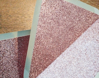 Dove Grey and Blush Glitter Lined 'Pink Fizz' Envelopes