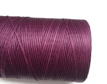 Purple Macrame cord, Waxed Polyester Cord, Purple Waxed Polyester Thread 1mm 10m - 11yards S 40 217