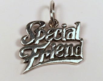 SPECIAL FRIEND Gift, Sterling Silver, Charm, Best Friend Gift, Girlfriend Gift, Boyfriend Gift, Appreciation Gift, BFF Gift, Birthday Gift