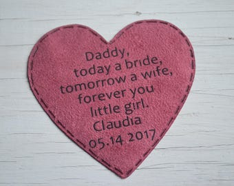 father daunhter gift for dad from the bride dad gift for wedding keepsake wedding favors gift for bride father of the bride parent wedding