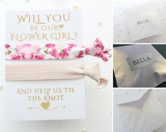 Personalised Flower Girl Proposal - Hair Tie - Will you be my - Personalized - Flower Girl Gift - Will you be our Flower Girl - Flowergirl