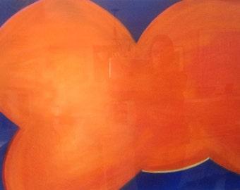 Orange Cloud-Pastel Drawing, Original Art, Orange,22 x 30, Contemporary Art, Ann Forget 199.00