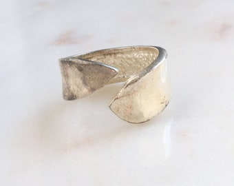 Sterling Silver Band Ring - Adjustable Band Ring - Statement Boho Ring
