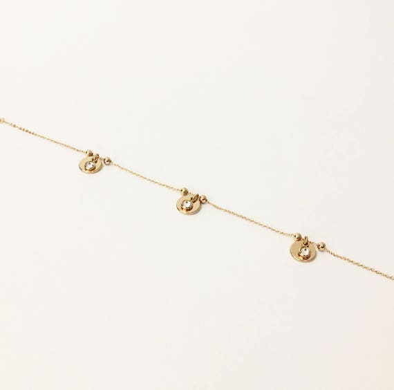 summer in gold il anklet coin simple dainty en listing