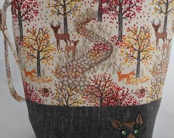 Autumn woods medium size project bag
