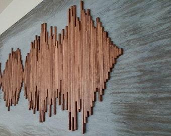 Large Custom Soundwave Wall Art- Soundwave Art - Unique Gift Idea - Anniversary Gift