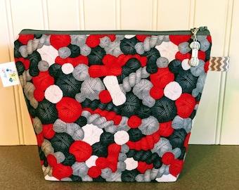Yarn Balls Knitting Project Bag - Small / Sock Size