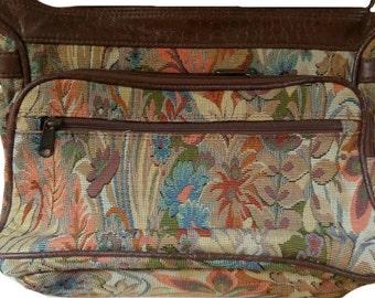 Large Vintage Tapestry Carpet Shoulder Handbag
