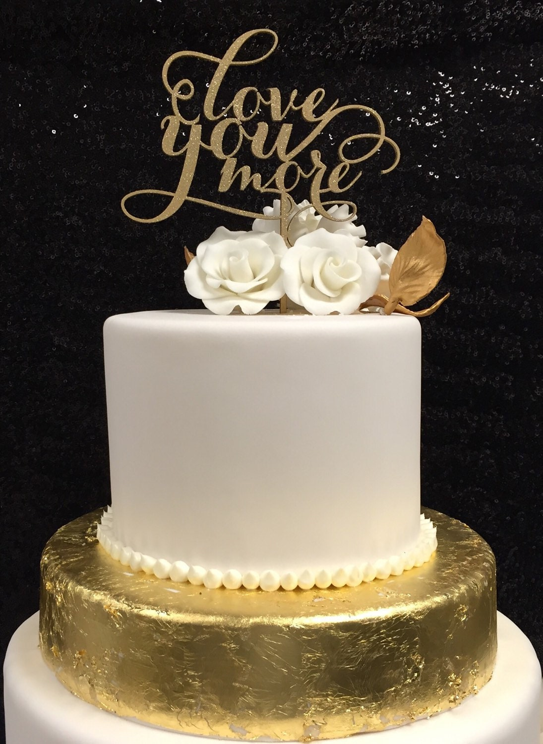 rose gold glitter wedding cake topper you more cake wedding cake topper gold cake topper 19276