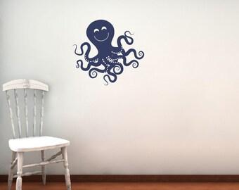 Octopus Wall Decal - Children Nursery - Sea Ocean Friends