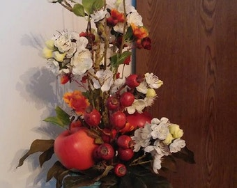Apple Blossoms in Picturesque Vase