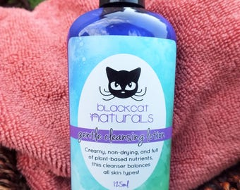 Gentle Cleansing Lotion - cleanser natural vegan aloe hypoallergenic dry combination oily mild