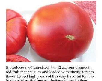 Red Brandywine Tomato Plant Tag Heirloom Tomato Picture Garden Marker