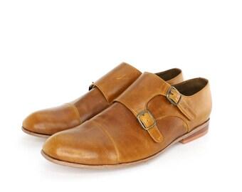 Monk Vagabundo Shoes in Honey for Women