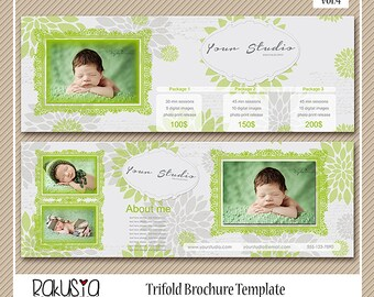 Trifold Marketing Brochure, 5x5 card template, digital paper, psd file vol.4