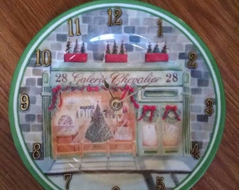 Christmas 28 Galerie Chevalier Clock Plate -