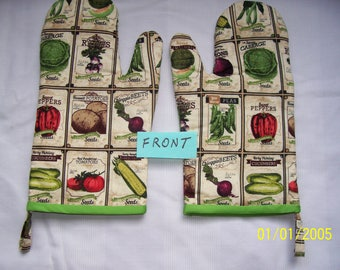 Old Fashioned Seed Packets Oven Mitts