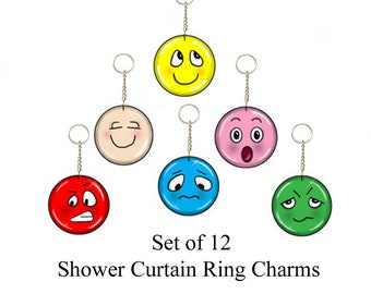 Emotions...Bling Charm Ornaments....Set of 12
